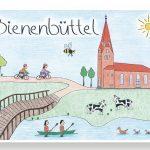 """""""Bienenbüttel""""-Postkarte"""
