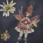 Bild aus getrockneten Pflanzenteilen